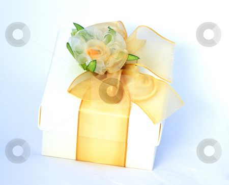 Gift box stock photo, Beautifully decorated gift box for wedding by Natalia Macheda