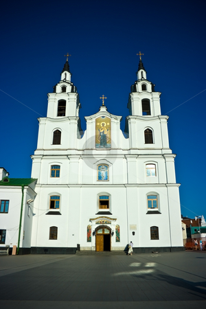 Minsk main cathedral stock photo, Church of Saint Spirit, the main Orthodox church in Minsk (Belarus) by Natalia Macheda