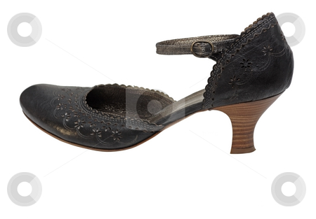 Italian lady shoe stock photo, Elegant woman shoe with typical italian floral elements of design by Natalia Macheda