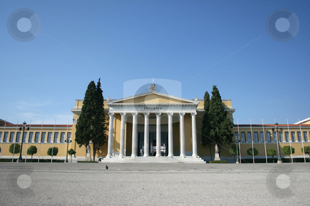 Zapion athens stock photo, Entrance neoclassical building of zapion landmarks of athens greece by EVANGELOS THOMAIDIS