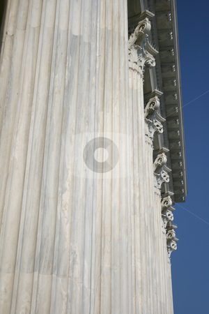 Pillars and sky stock photo, Pillar texture from zapeion building landmarks of athens greece by EVANGELOS THOMAIDIS