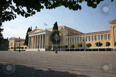 Zapion megaron stock photo, Neoclassical building of zapion landmarks of athens greece by EVANGELOS THOMAIDIS