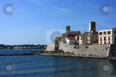 Antibes at day stock photo, A fragment of an old fortified part of French city Antibes at day by Natalia Macheda