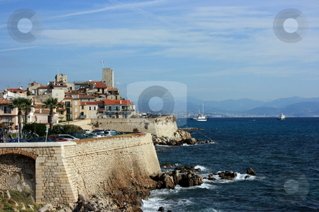 Antibes at day 2 stock photo, A fragment of an old fortified part of French city Antibes by Natalia Macheda