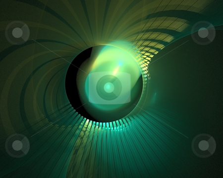 Glowing ball stock photo, Glowing ball with fractal rays by Natalia Macheda