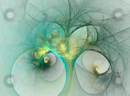 Fantasy tree stock photo, Fractal illustration of fantastic tree by Natalia Macheda