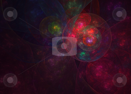 Cosmic eye stock photo, Abstract fractal illustration of an eye observing space by Natalia Macheda