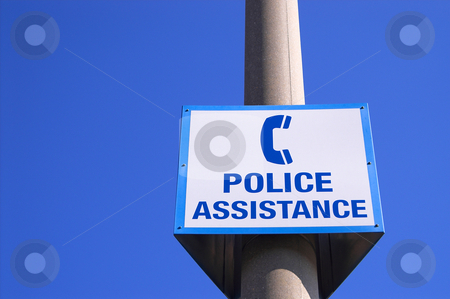 Police Asistance stock photo, A police assistance sign in a public area. by Robert Byron