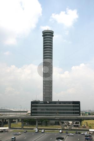Bangkok aiport stock photo, Bangkok aiport control tower by EVANGELOS THOMAIDIS