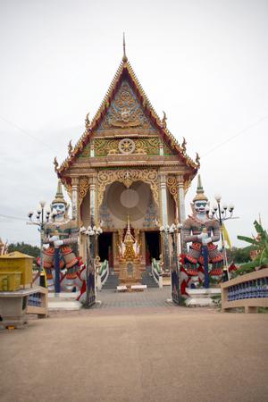 Wat Pai Laem temple stock photo, Wat Pai Laem temple in samui island thailand by EVANGELOS THOMAIDIS