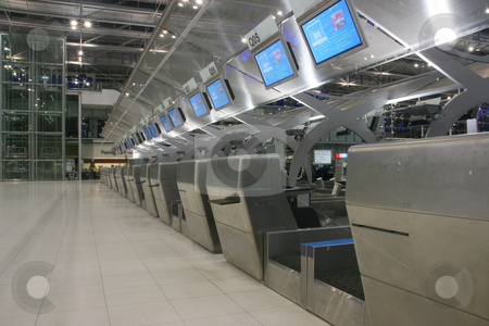 Bangkok airport stock photo, Check in desks in bangkok international airport by EVANGELOS THOMAIDIS
