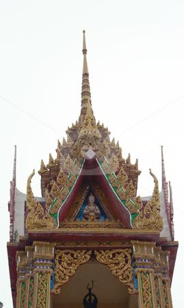 Wat Pai Laem temple detail stock photo, Wat Pai Laem temple in samui island thailand by EVANGELOS THOMAIDIS