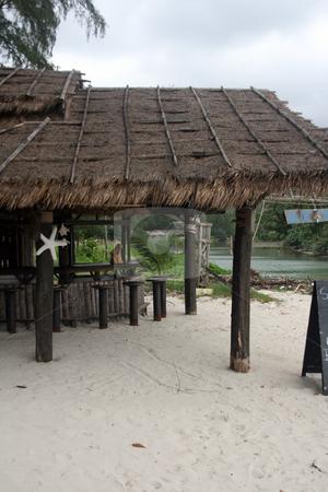 Beach bar vertical stock photo, Beach bar at koh chang island thailand by EVANGELOS THOMAIDIS
