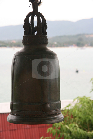 Bell stock photo, Buddhistic temple bell big buddha temple samui island thailand by EVANGELOS THOMAIDIS