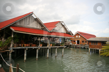 Floating restaurant stock photo, Floating restaurant in koh chang island thailand by EVANGELOS THOMAIDIS