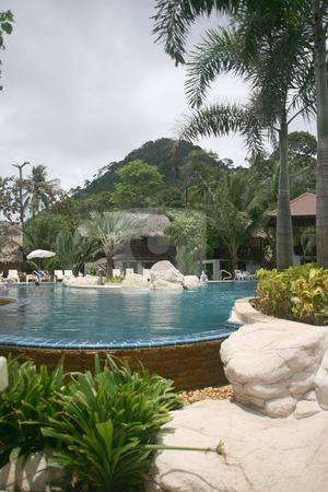 Pool and mounten stock photo, Pool and mounten by EVANGELOS THOMAIDIS