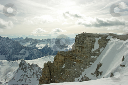 Dolomites stock photo, Dolomites landscape. View on mountain range from the point 3000m above the sea level by Natalia Macheda