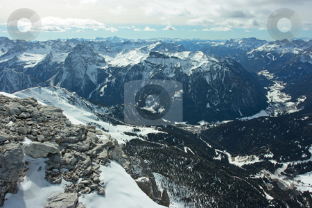 Dolomites stock photo, Dolomitres view from 3000m over the sea level by Natalia Macheda