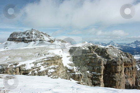 Dolomites stock photo, View on Dolomites range from the point 3000m high over the sea level by Natalia Macheda