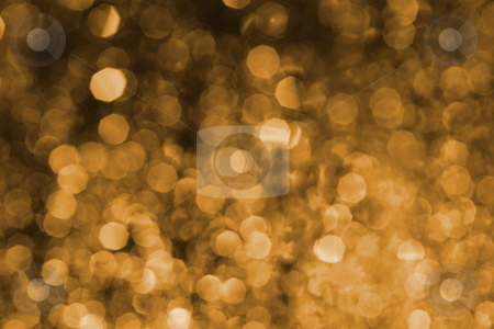 Gold blurry spots stock photo, Abstract background of water drops on window illuminated by street lamp by Natalia Macheda