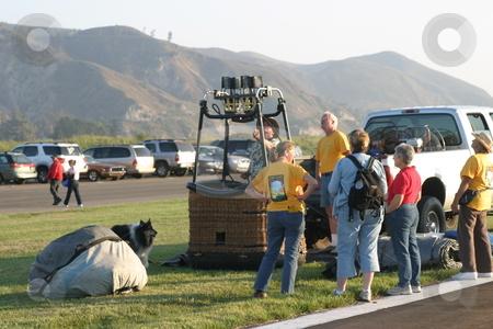 Santa Paula Balloon Festival stock photo, Annual balloon festival in Santa Paula, California. July 2008 by Henrik Lehnerer