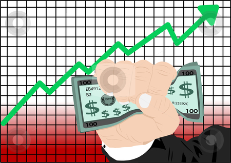 Stock Market Vector stock vector clipart, Stock Market Increase Vector Illustration by John Teeter