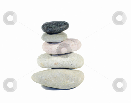Zen stones stock photo, Pile of five zen stones in equilibrium by Natalia Macheda
