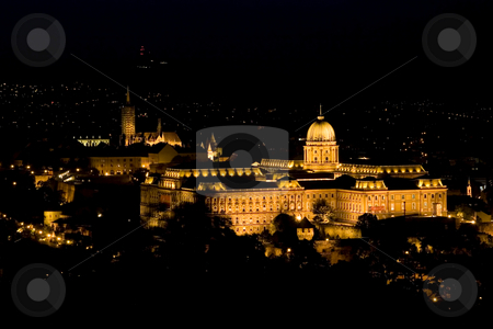 Budapest at night stock photo, Budapest at night by Fesus Robert