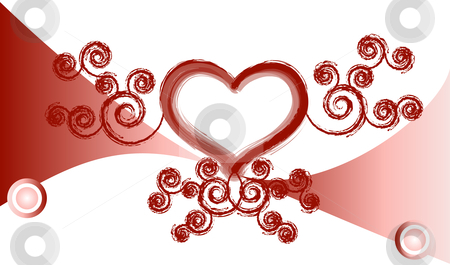 Valentine love background stock vector clipart, Valentine love background vector by John Teeter