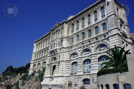 Museum stock photo, Oceanographic museum of Monaco with an aquarium inside by Natalia Macheda
