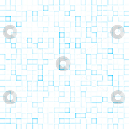 Technological background stock photo, Technological abstract background of glowing squares by Natalia Macheda