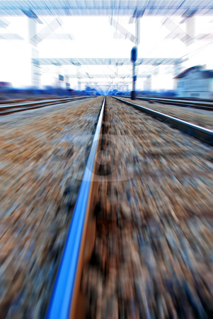 Fast railroad stock photo, A simulation of speed over railroad by Ivan Paunovic