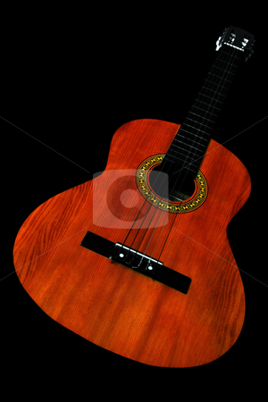 Acoustic guitar stock photo, Acoustic guitar in black background by Jonas Marcos San Luis