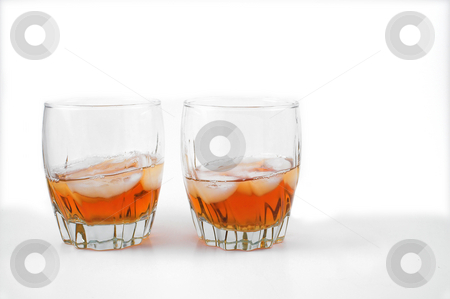 Bourbon stock photo, Highball glasses filled with delicious Kentucky Bourbon. by Robert Byron