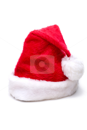 Christmas Santa hat stock photo, Christmas Santa hat on white by Vince Clements