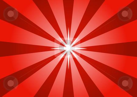 Red Star Light Illustration stock vector clipart, Red Star Light Vector Illustration by John Teeter