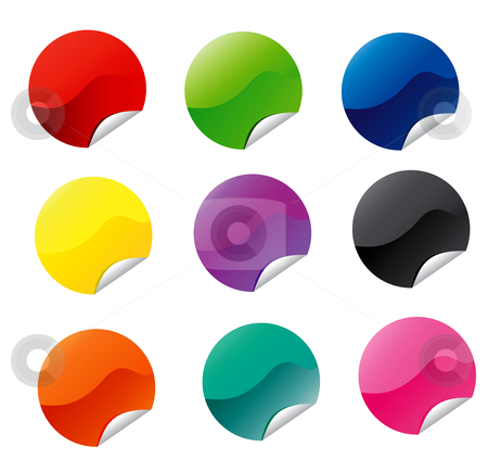 Circle Announcement Icons stock vector clipart, Icons and badge for announcement by Stephanie Soon