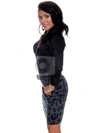 High Fashion Woman stock photo, Beautiful young Latina socialite by Robert Deal