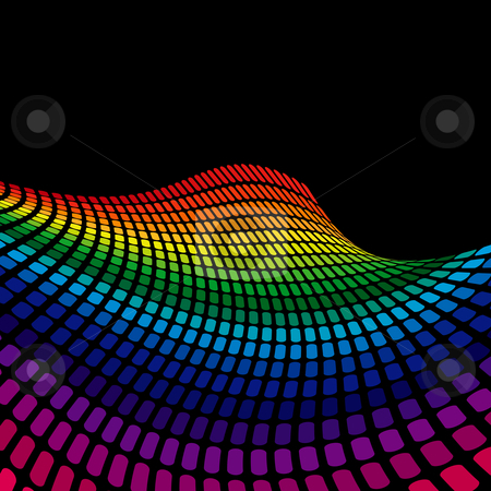 Rainbow Wave stock vector clipart, Rainbow Wave by Adrian Sawvel