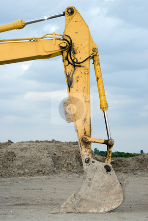 Backhoe Scoop stock photo, Closeup view of the scoop of a backhoe by Richard Nelson