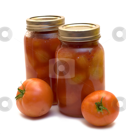 Home Canning stock photo, Tomatoes canned in mason jars to keep as preserves by Richard Nelson