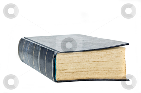 Hard cover book isolated on white background. stock photo, Hard cover book isolated on white background. by Pablo Caridad