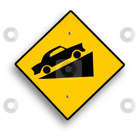 Traffic sign isolated on white stock photo, Traffic sign isolated on white, clipping path excludes shadow. by Pablo Caridad