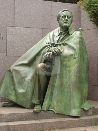 Roosevelt Memorial in Washington DC stock photo,  by Ritu Jethani