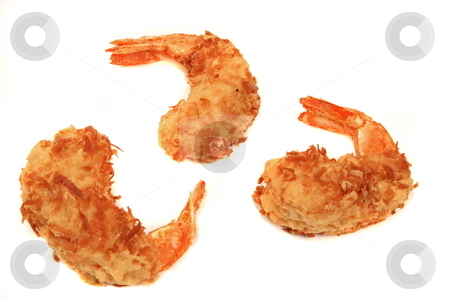 Shrimp stock photo, Fried coconut shrimp dipped in sweet sauce by Jack Schiffer