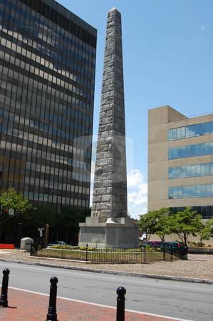 Monument in Asheville stock photo, A downtown monument in asheville North Carolina by Tim Markley