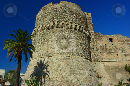 Aragonese castle stock photo, Ruins of aragonese castle in reggio calabria, southern italy by Natalia Macheda