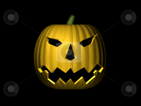 3D Pumpkin stock photo, 3D Pumpkin by John Teeter