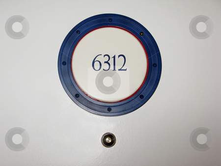 Room Number stock photo, A hotel room number on a door. by Lucy Clark