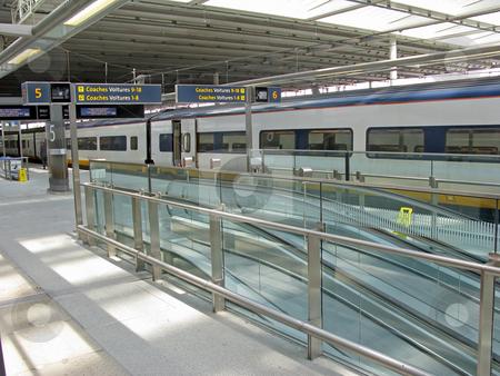 Train Platform stock photo, A platform at a British train station. by Lucy Clark